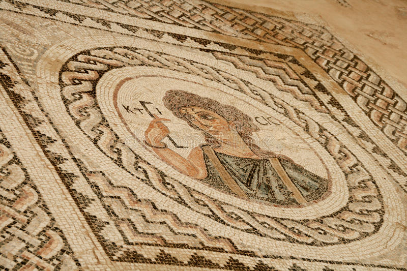 Cyprus ancient mosaic. Curion royalty free stock images