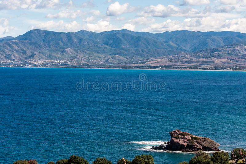 Cyprus beach Cliifs royalty free stock photography