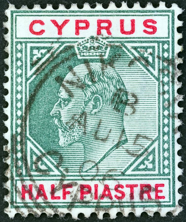 CYPRUS - CIRCA 1903: A stamp printed in Cyprus shows King Edward VII, circa 1903. stock images