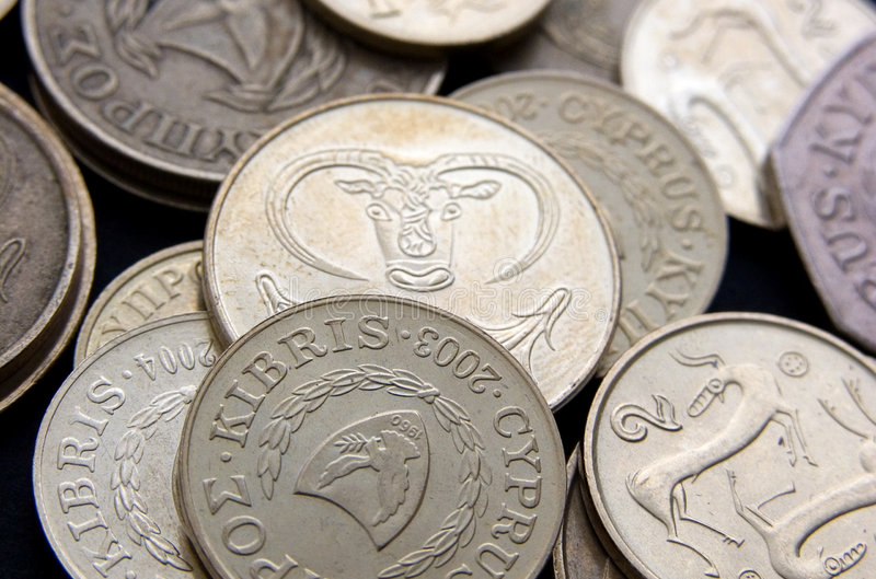 Cyprus Coins Stock Image