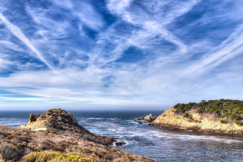 Cyprus Cove at Point Lobos Park royalty free stock photography