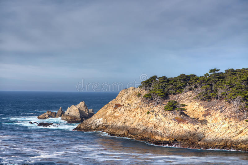 Cyprus Cove at Point Lobos Park royalty free stock photos