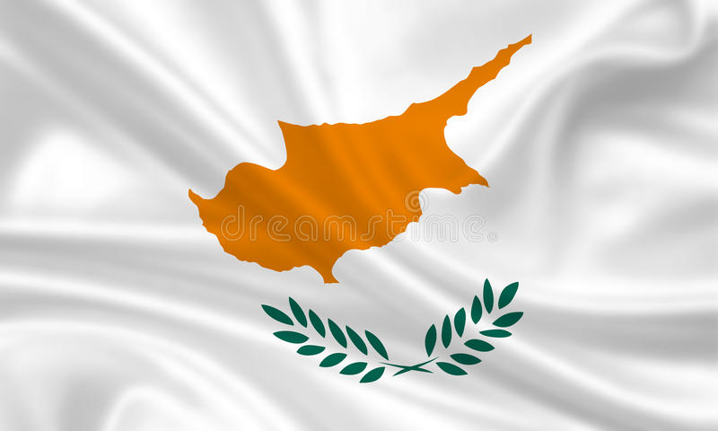 cyprus flagga stock illustrationer