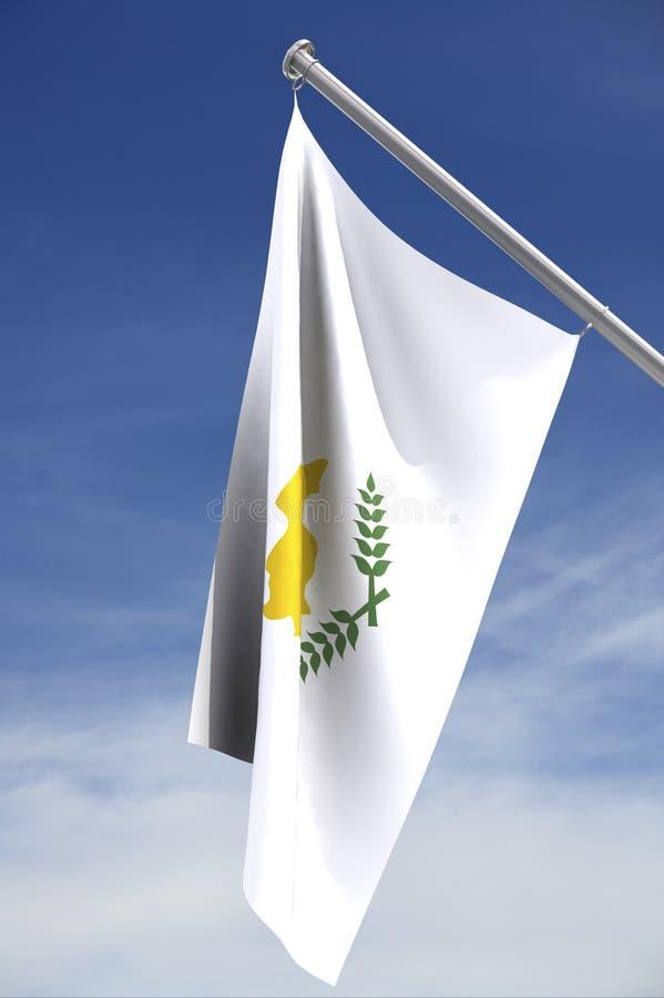 cyprus flagga vektor illustrationer