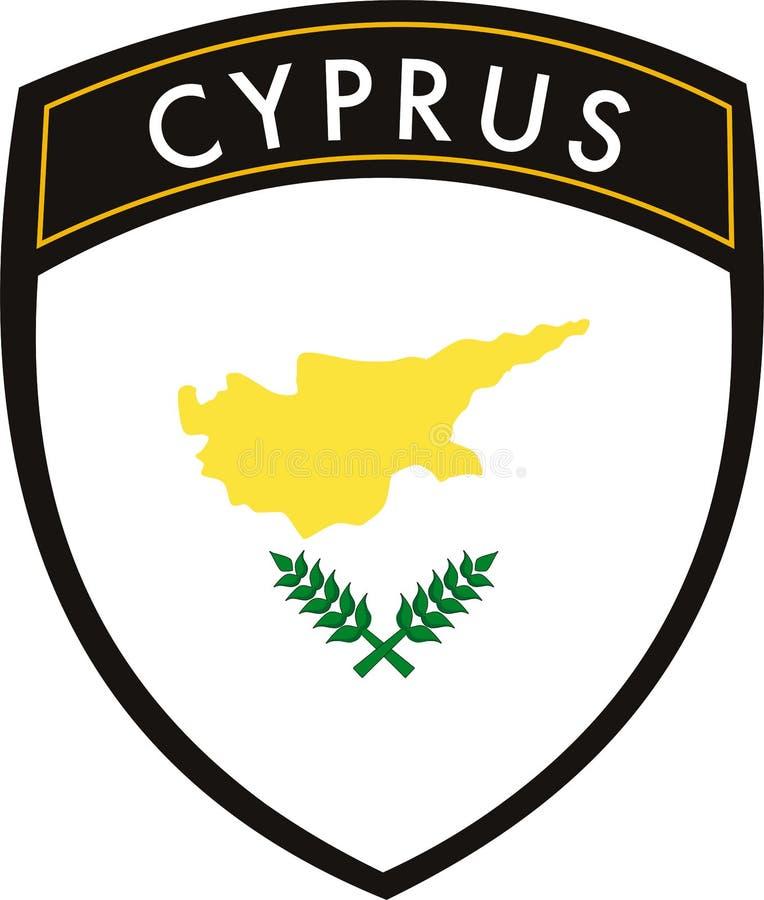 cyprus flagga royaltyfri illustrationer