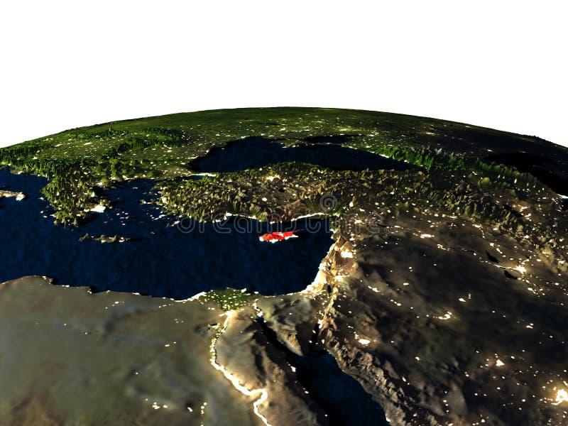 Cyprus van ruimte bij nacht royalty-vrije illustratie