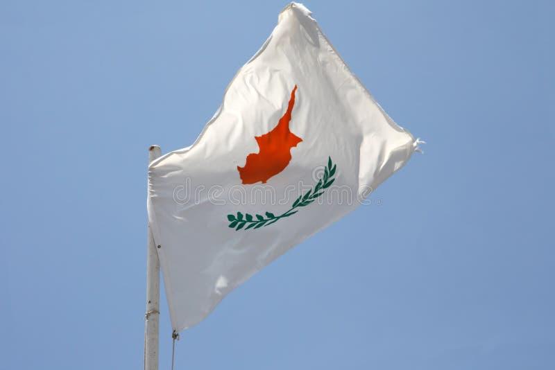 cypryjczyk flagę fotografia royalty free