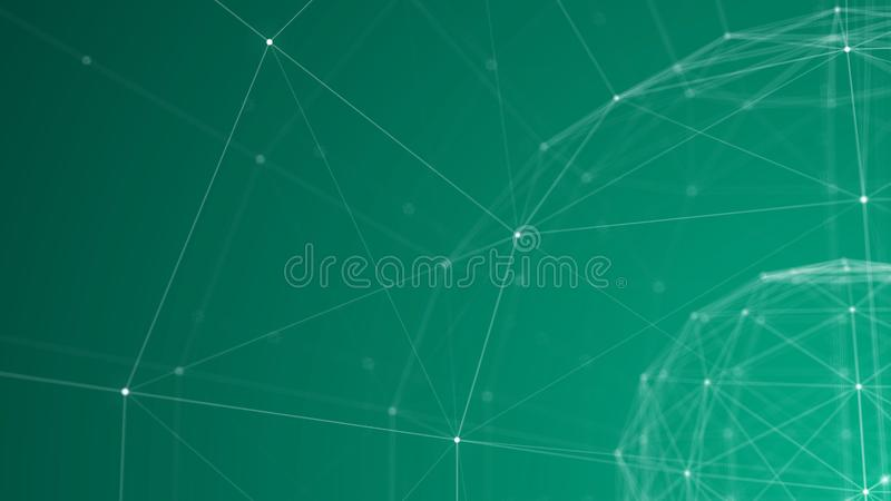 Cyraneczki Plexus sfery ramy 3d tło ilustracja wektor