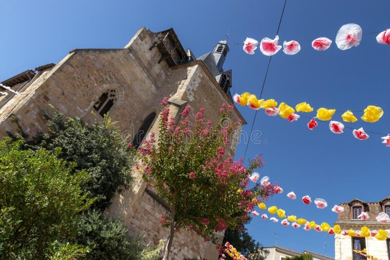 Cyrano de Bergeracs Heimatstadt stockfotografie