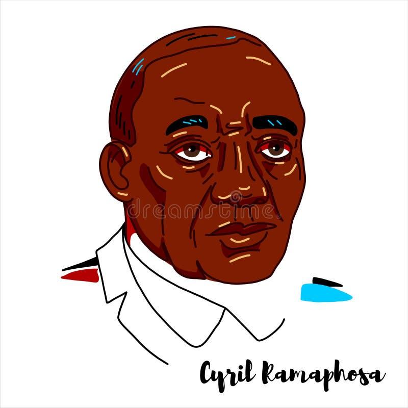 Cyril Ramaphosa portret ilustracja wektor