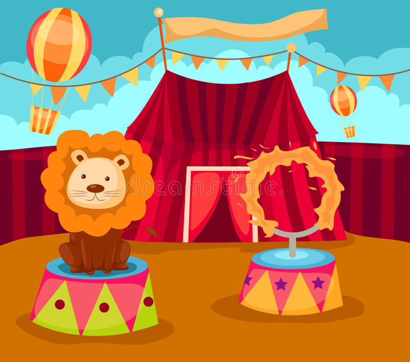 cyrk royalty ilustracja