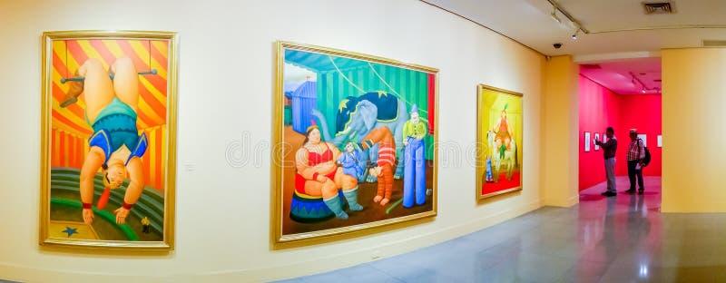 Cyrk, maluje wystawę Fernando Botero zdjęcie royalty free