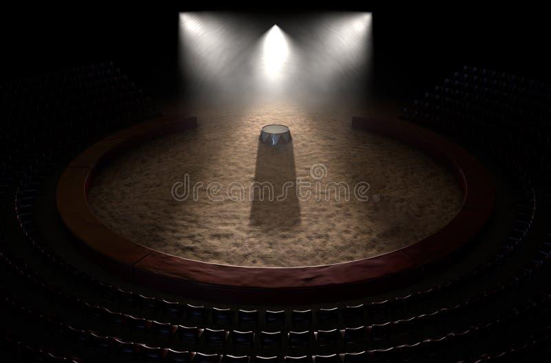 Cyrka podium I pierścionek obrazy stock