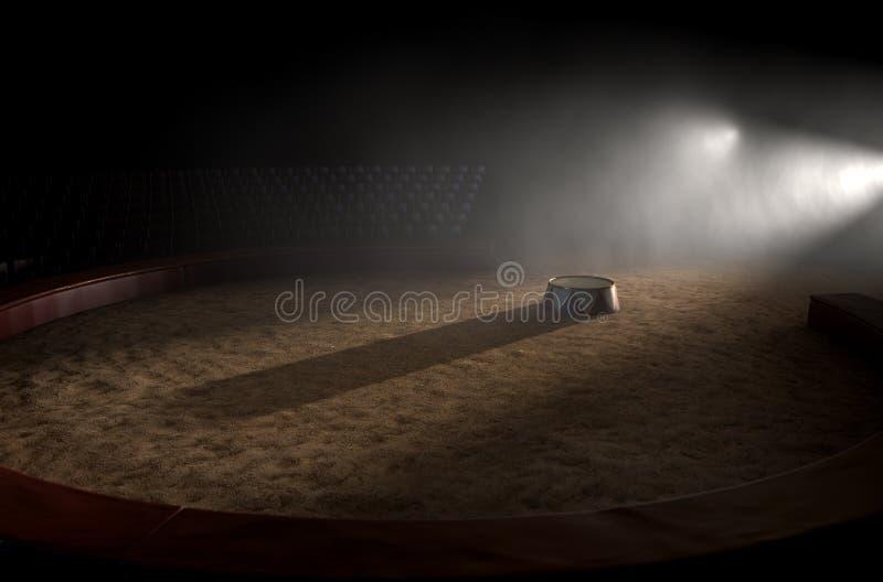 Cyrka podium I pierścionek zdjęcia stock