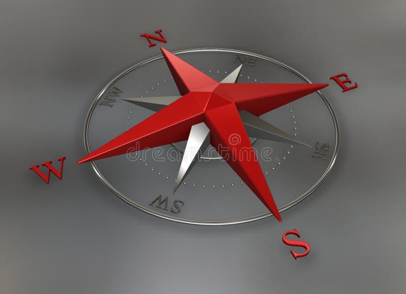 cyrklowa chrom czerwień ilustracji
