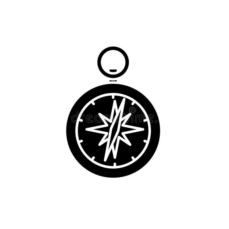 Cyrklowa czarna ikona, wektoru znak na odosobnionym tle Cyrklowy pojęcie symbol, ilustracja royalty ilustracja