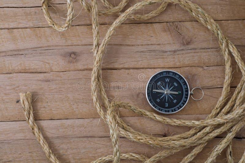 Cyrklowa i nautyczna arkana na drewnianych deskach zdjęcie stock