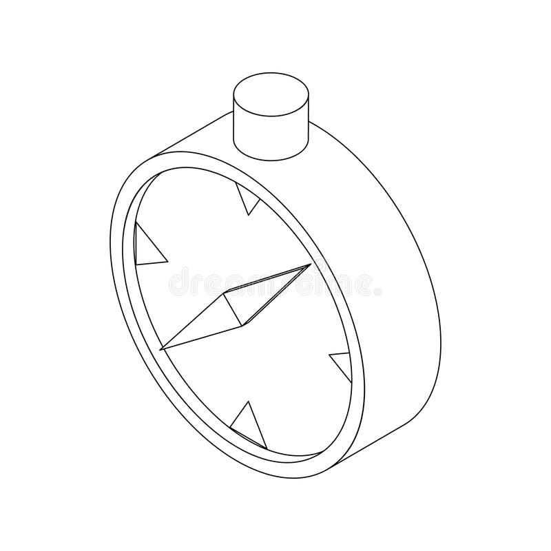 Cyrklowa ikona, isometric 3d styl ilustracji