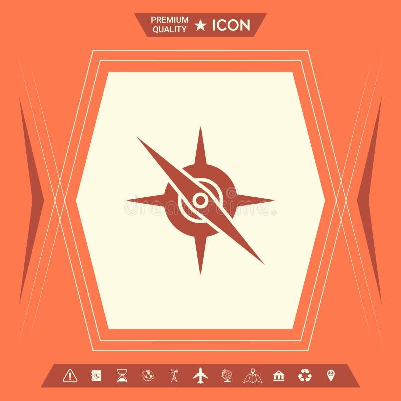 Cyrklowa symbol ikona ilustracja wektor