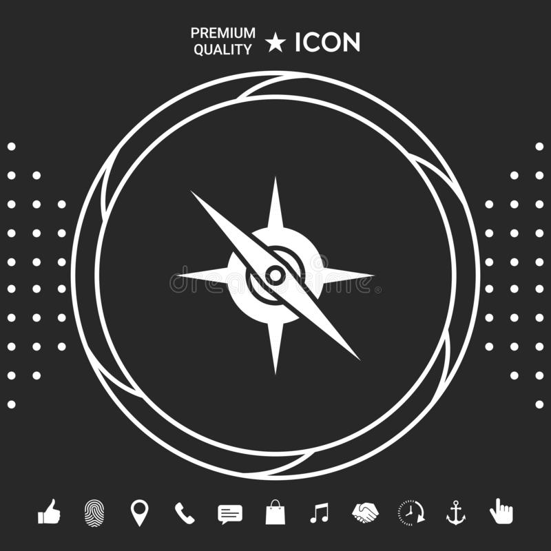 Cyrklowa symbol ikona royalty ilustracja