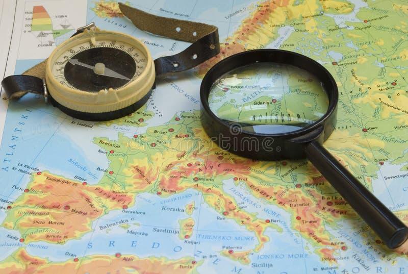 cyrklowego szkła target2177_0_ mapa zdjęcia stock