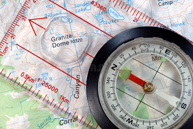 cyrklowej mapy nawigacyjny topograficzny zdjęcie stock
