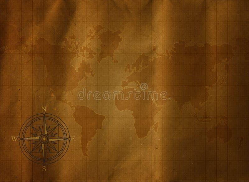 cyrklowej mapy stary świat ilustracja wektor