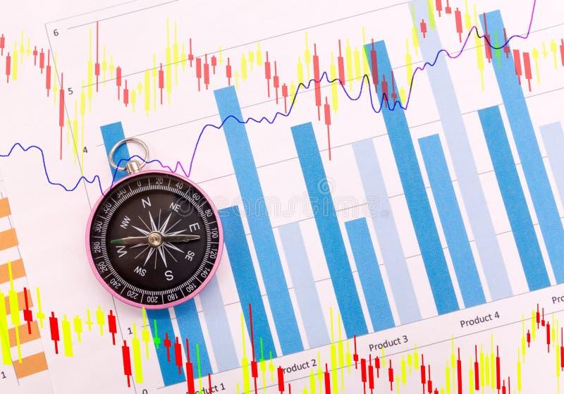 Cyrklowi i Biznesowi wykresy, Finansowy poj?cie zdjęcie royalty free