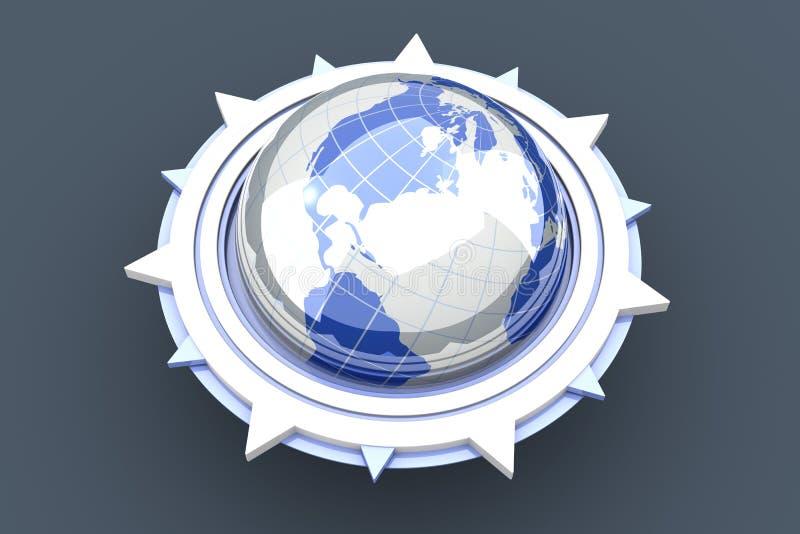 cyrklowy globalny royalty ilustracja