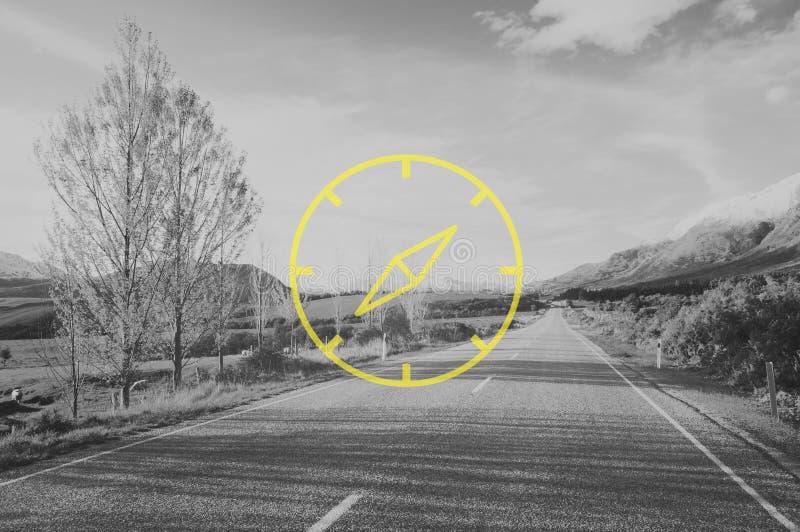 Cyrklowy ikona nawigatora eksploraci nawigaci pojęcie zdjęcie royalty free