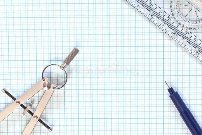 cyrklowy inżynierii wykresu życia papier wciąż fotografia stock