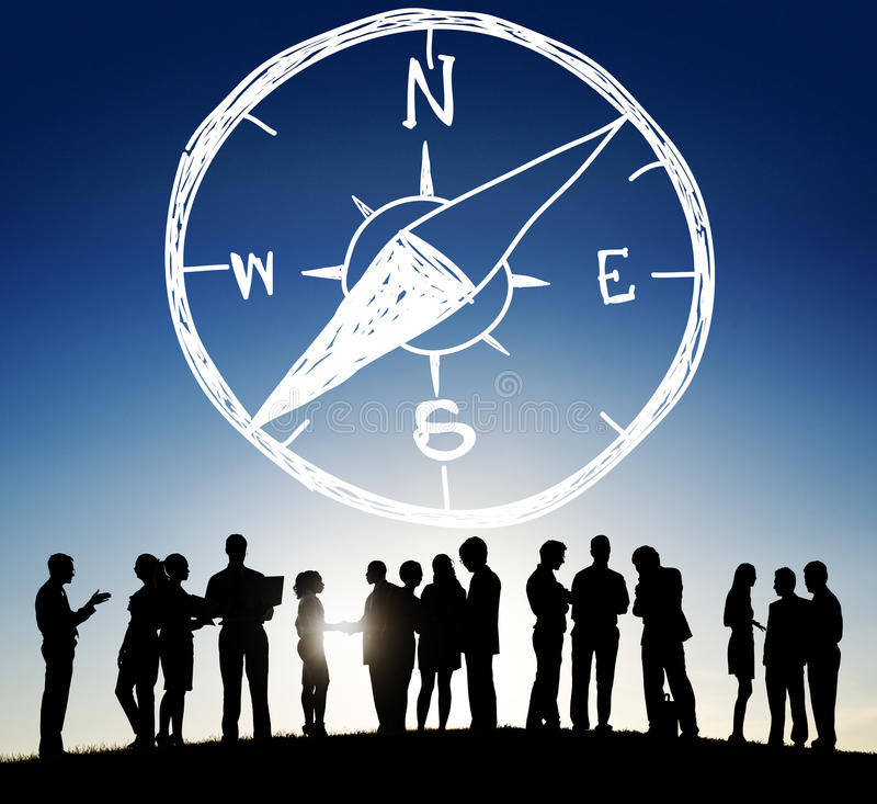 Cyrklowy Longitude szerokości nawigaci kierunku przygody pojęcie zdjęcie royalty free