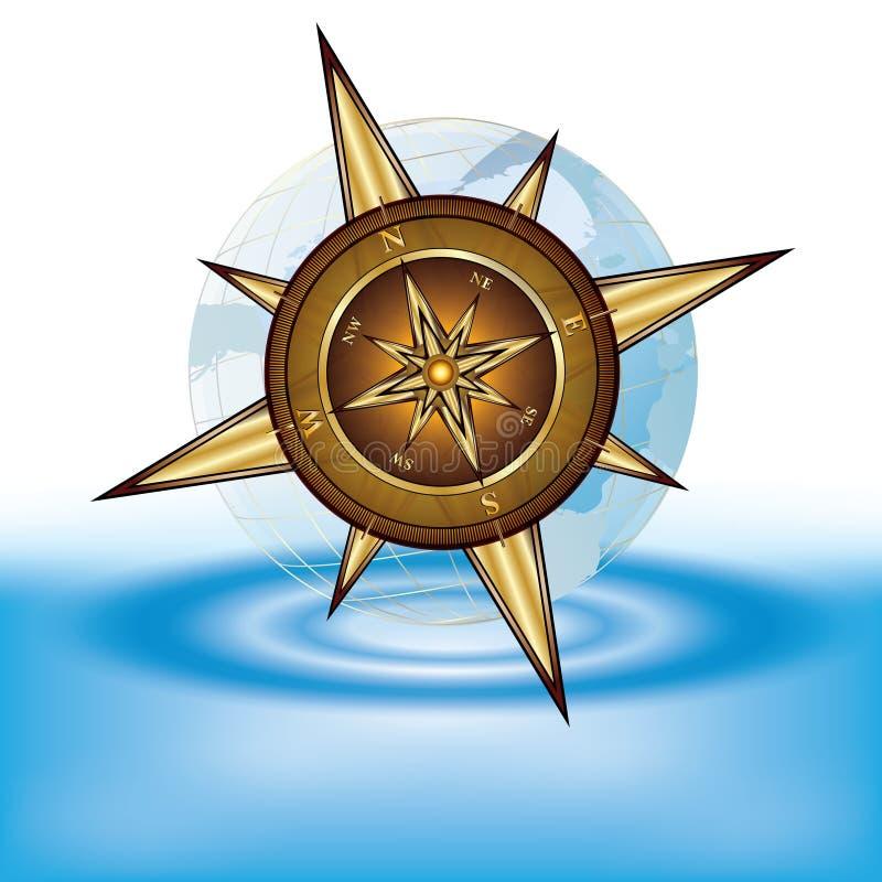 cyrklowy złoto royalty ilustracja
