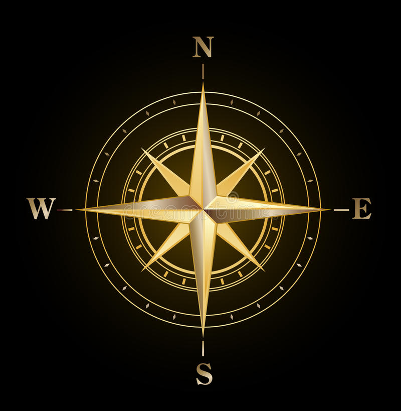cyrklowy złoto wzrastał ilustracja wektor