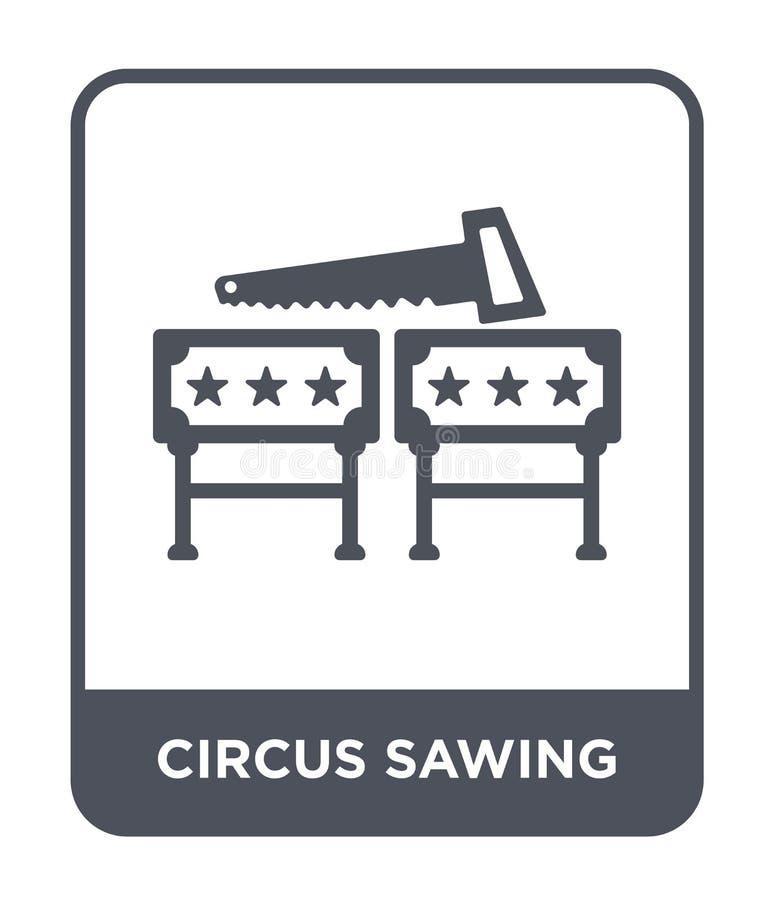 cyrkowa piłowanie ikona w modnym projekta stylu cyrkowa piłowanie ikona odizolowywająca na białym tle cyrkowego piłowania wektoro royalty ilustracja