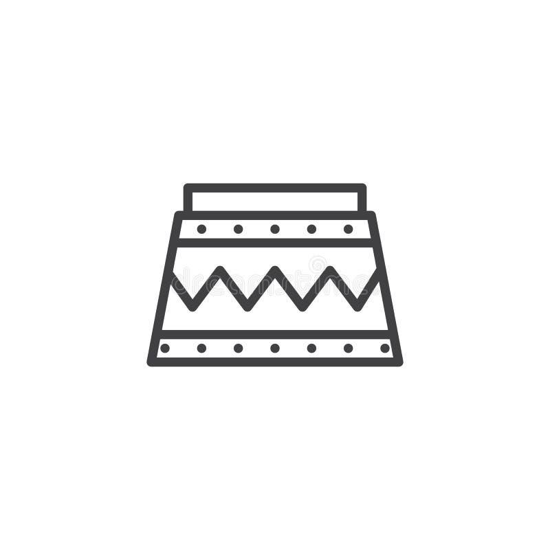 Cyrkowa podium linii ikona ilustracji