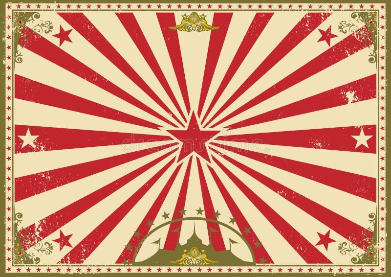 Cyrkowego rocznika horyzontalny tło royalty ilustracja