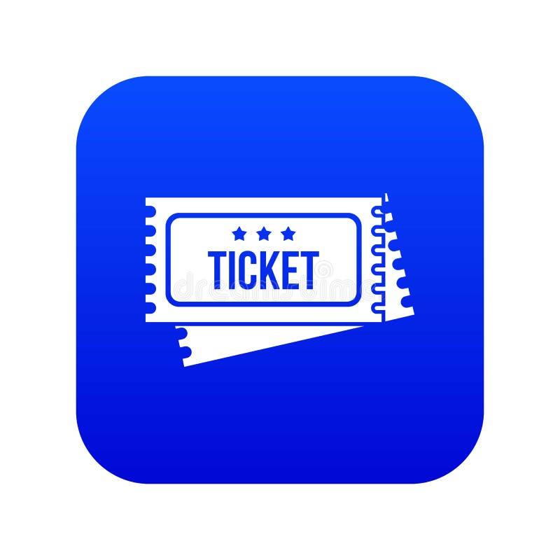Cyrkowej przedstawienie biletów ikony cyfrowy błękit royalty ilustracja