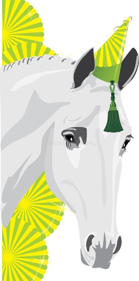 cyrkowy koń royalty ilustracja