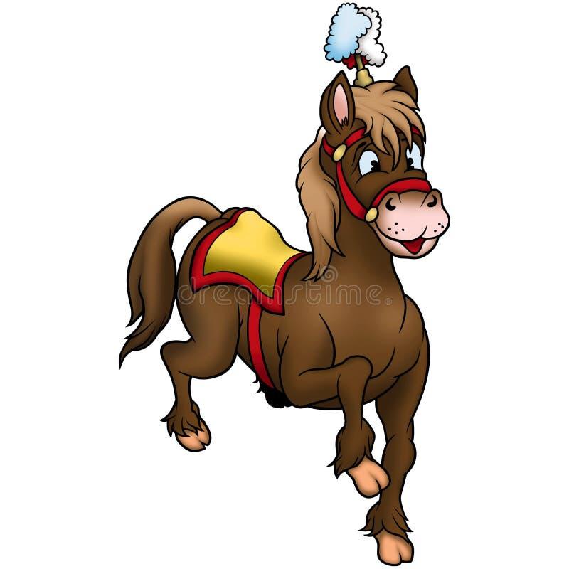 cyrkowy koń brown ilustracja wektor