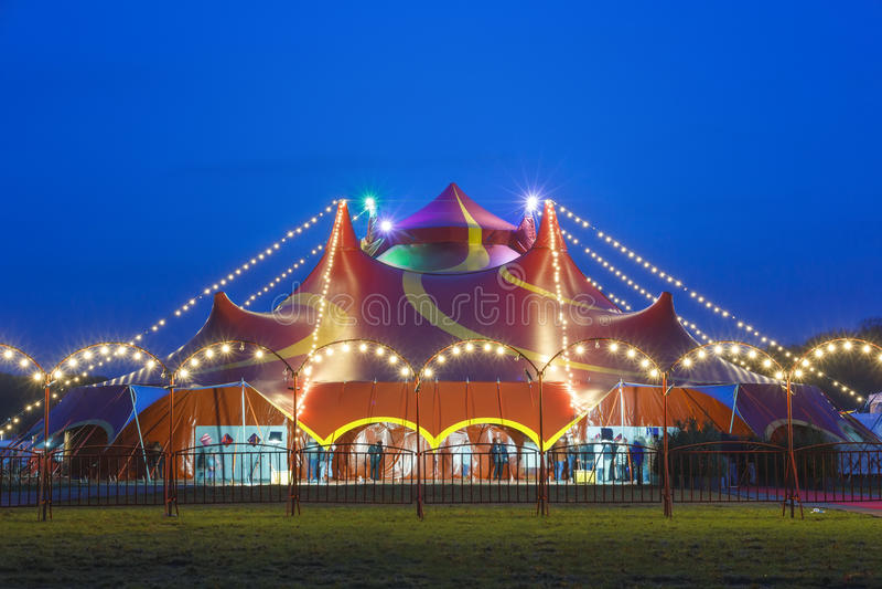 cyrkowy kolorowy namiot zdjęcia stock