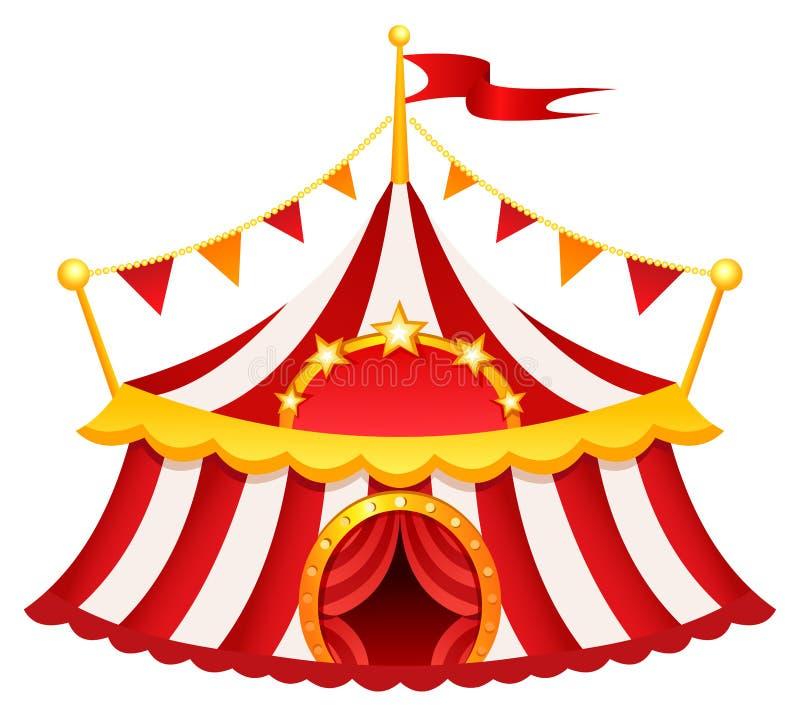 cyrkowy namiot ilustracji