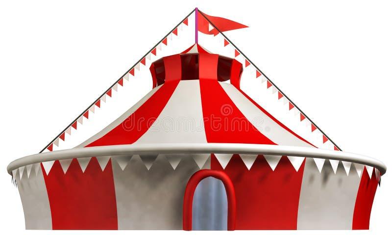 Cyrkowy namiot ilustracja wektor