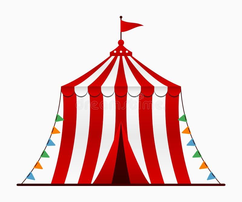 Cyrkowy namiot Cyrkowa arena z kopułą w kreskówka stylu wektor ilustracja wektor
