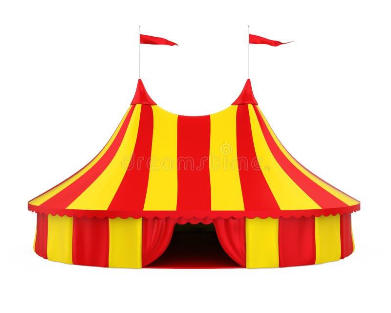 Cyrkowy namiot Odizolowywający ilustracja wektor