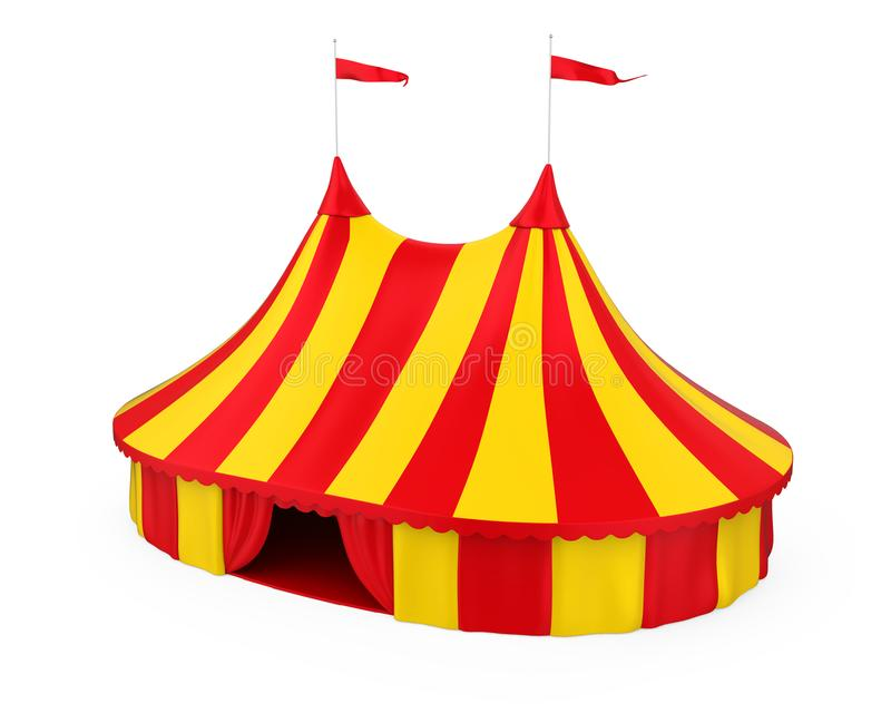 Cyrkowy namiot Odizolowywający royalty ilustracja