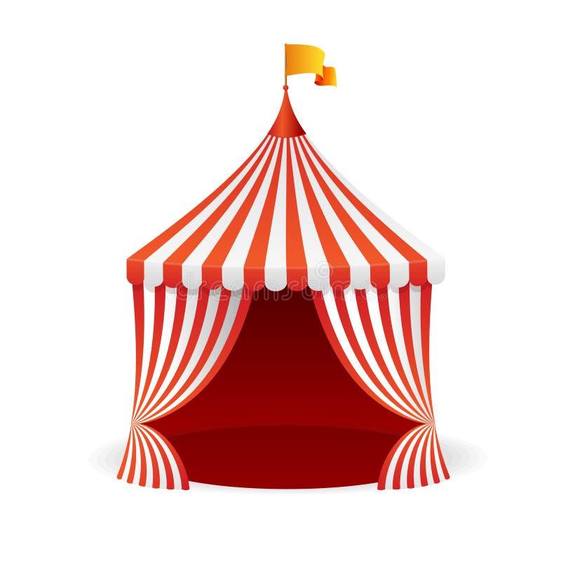 Cyrkowy namiot wektor ilustracji