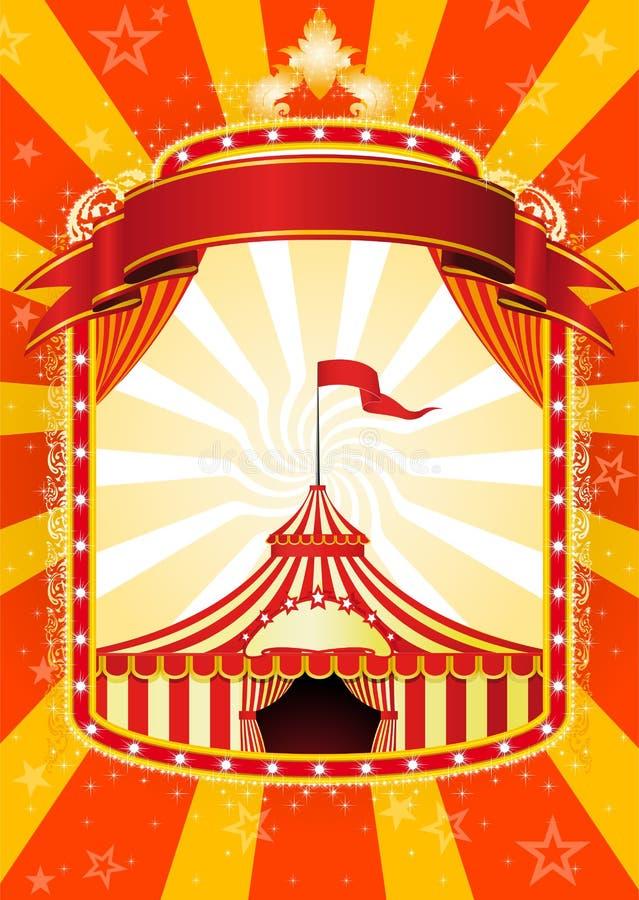 cyrkowy plakat ilustracja wektor