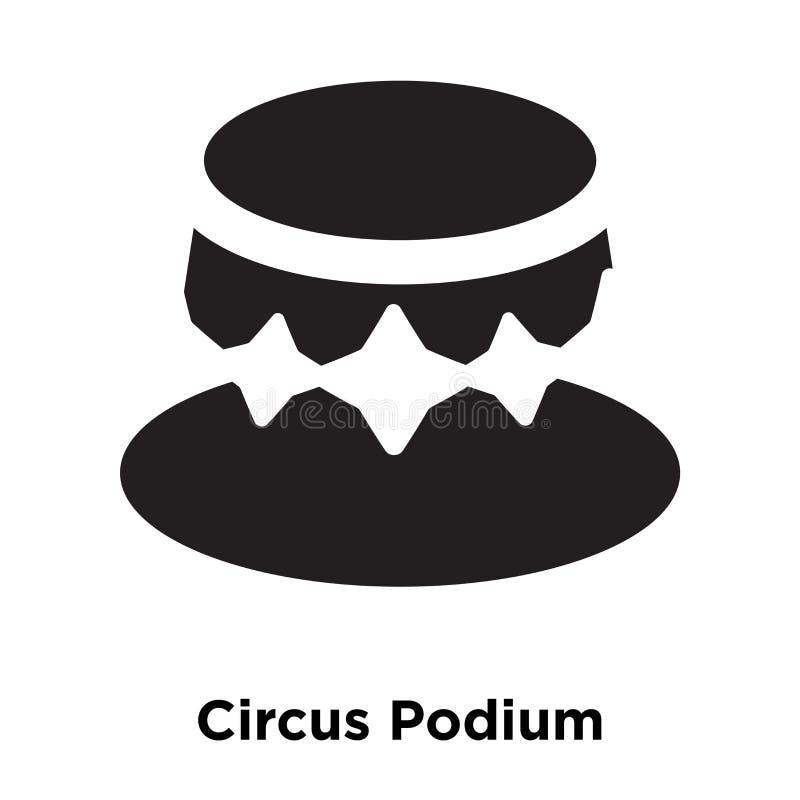 Cyrkowy podium ikony wektor odizolowywający na białym tle, loga przeciw royalty ilustracja