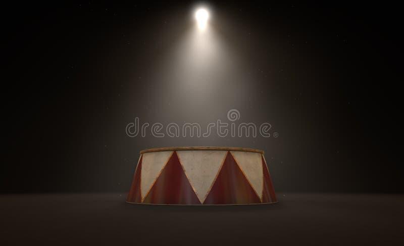 Cyrkowy podium Spotlit royalty ilustracja